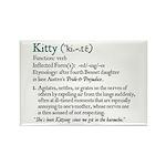 Jane Austen Kitty Rectangle Magnet