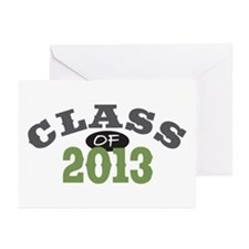 Class Of 2013 Green Greeting Cards (Pk of 20)