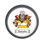 Santandrea Coat of Arms Wall Clock