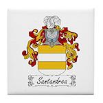 Santandrea Coat of Arms Tile Coaster