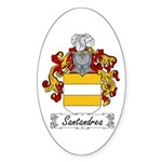 Santandrea Coat of Arms Oval Sticker