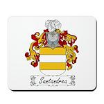 Santandrea Coat of Arms Mousepad