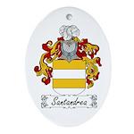 Santandrea Coat of Arms Oval Ornament
