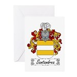Santandrea Coat of Arms Greeting Cards (Package of