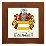 Santandrea Coat of Arms Framed Tile