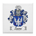 Sansoni Family Crest  Tile Coaster