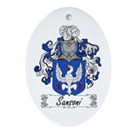 Sansoni Family Crest  Oval Ornament