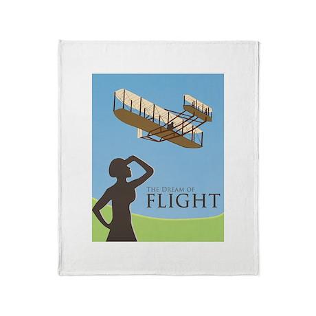 The Dream of Flight Throw Blanket