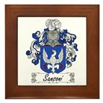 Sansoni Family Crest  Framed Tile