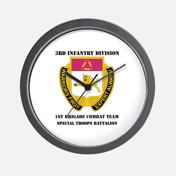 1st BCT - Special Troops Bn with Text Wall Clock