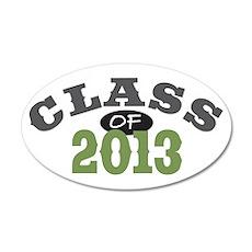 Class Of 2013 Green 22x14 Oval Wall Peel
