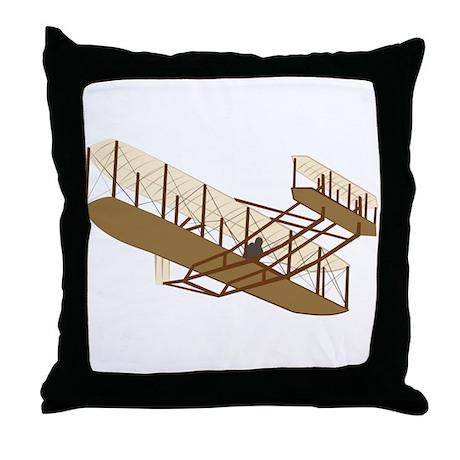 Wright Flyer Throw Pillow