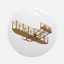 Wright Flyer Ornament (Round)