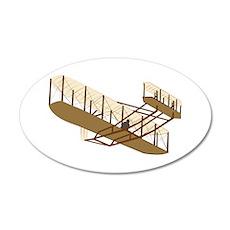 Wright Flyer 22x14 Oval Wall Peel