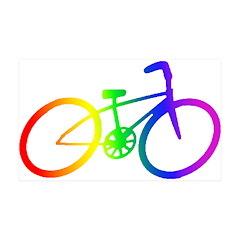Biking 38.5 x 24.5 Wall Peel