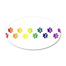 Paws All Over You 22x14 Oval Wall Peel