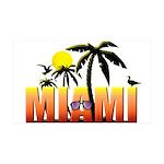 Miami 38.5 x 24.5 Wall Peel