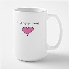 Live Well, Laugh Often, Love Large Mug