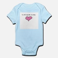 Live Well, Laugh Often, Love Infant Bodysuit