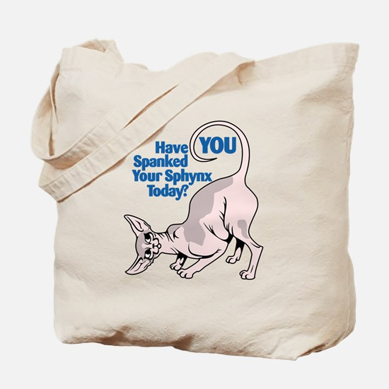 Spank Your Sphynx - Spots Tote Bag
