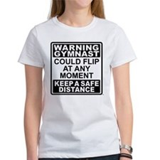 Warning Gymnast Flip Tee