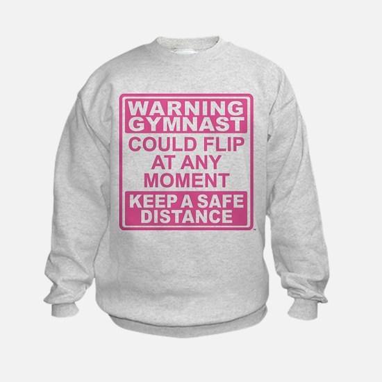 Warning Gymnast Flip Sweatshirt