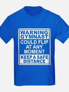 Warning Gymnast Flip T