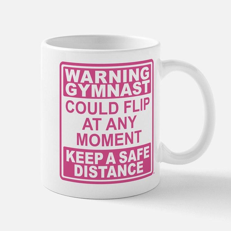 Warning Gymnast Flip Mug