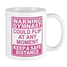 Warning Gymnast Flip Mug