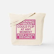 Warning Gymnast Flip Tote Bag