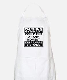 Warning Gymnast Flip Apron