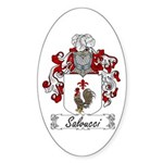 Salvucci Coat of Arms Oval Sticker