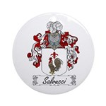Salvucci Coat of Arms Ornament (Round)