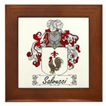 Salvucci Coat of Arms Framed Tile