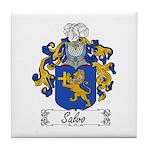 Salvo Family Crest Tile Coaster