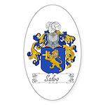 Salvo Family Crest Oval Sticker