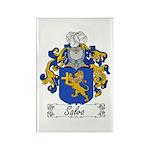 Salvo Family Crest Rectangle Magnet (100 pack)