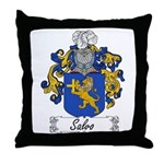 Salvo Family Crest Throw Pillow