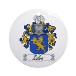 Salvo Family Crest Ornament (Round)