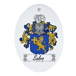Salvo Family Crest Oval Ornament