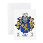 Salvo Family Crest Greeting Cards (Pk of 10)