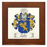Salvo Family Crest Framed Tile