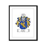 Salvo Family Crest Framed Panel Print