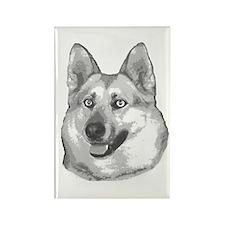 Christy Dog Rectangle Magnet