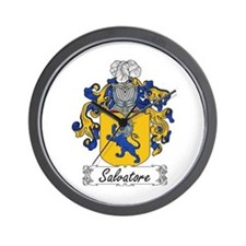 Salvatore Family Crest Wall Clock