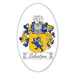 Salvatore Family Crest Oval Sticker