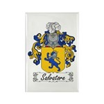 Salvatore Family Crest Rectangle Magnet (100 pack)