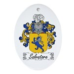 Salvatore Family Crest Oval Ornament