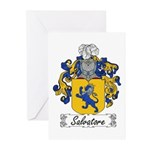 Salvatore Family Crest Greeting Cards (Package of