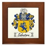 Salvatore Family Crest Framed Tile